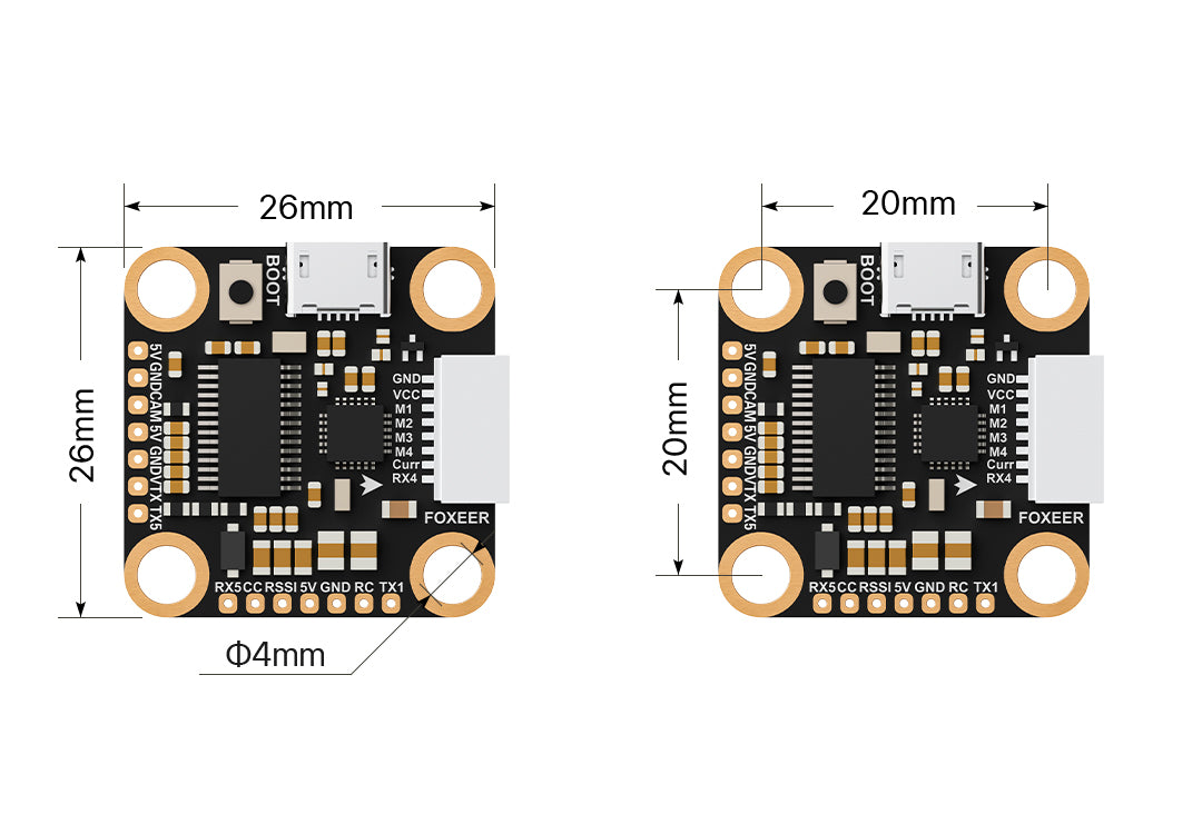 Foxeer F722 V2 Mini Flight Controller