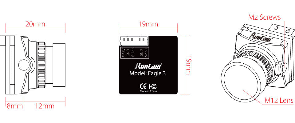 RunCam Eagle 3 Dimensions