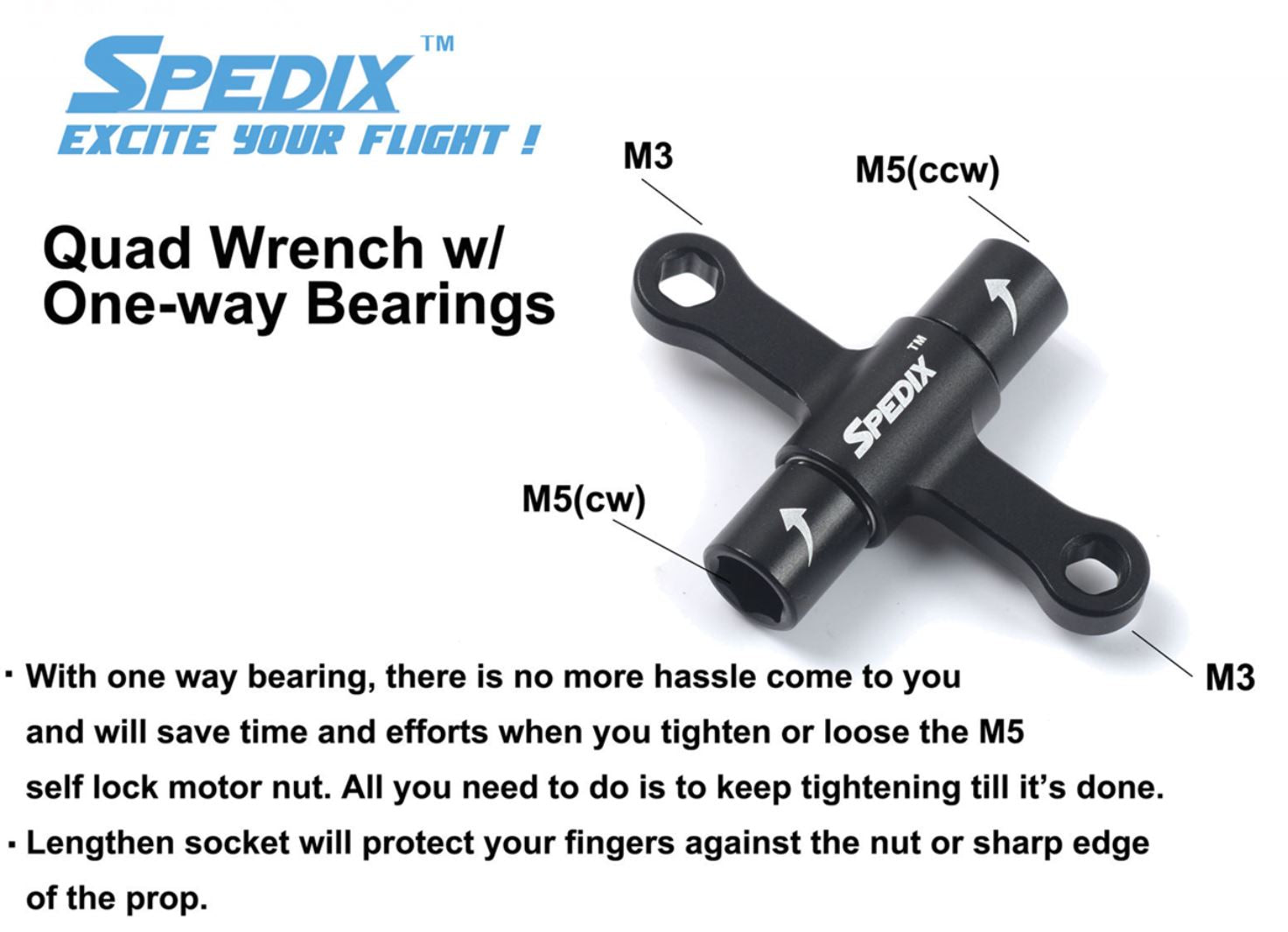 Spedix Quad Wrench