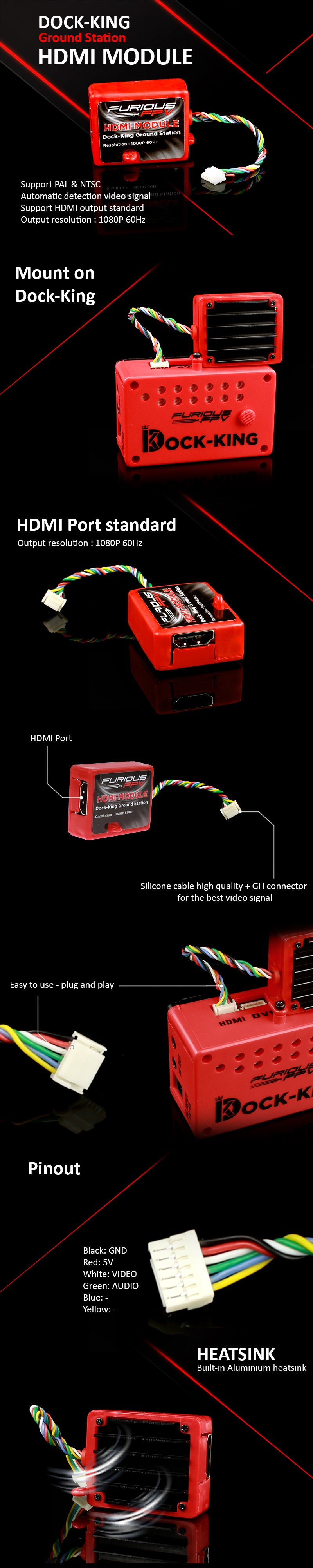 Furious FPV HDMI Module for Dock King