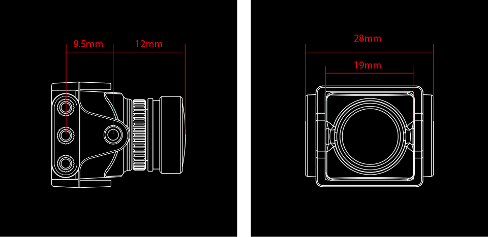 RunCam Split 3 Micro Camera Dimensions