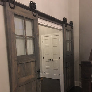 Vintage 3-Panel Door with Windows