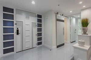 Vertical Plank Metal Trim Door