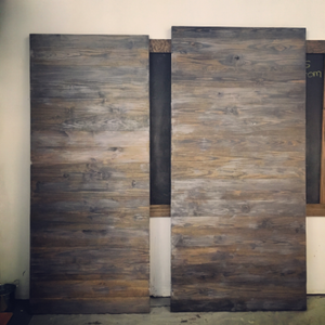 Horizontal Plank Door