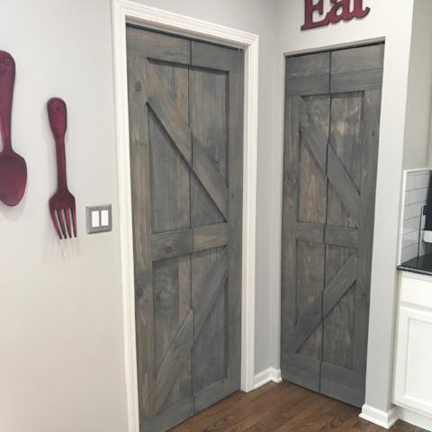 Hinged Bifold Closet Doors - Single British Brace Design