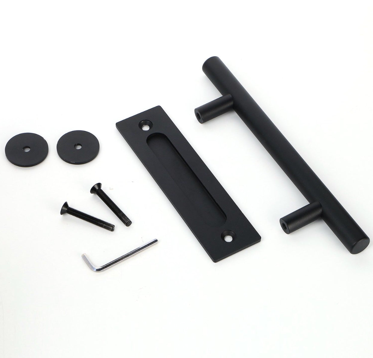 Black Cylinder Door Handle