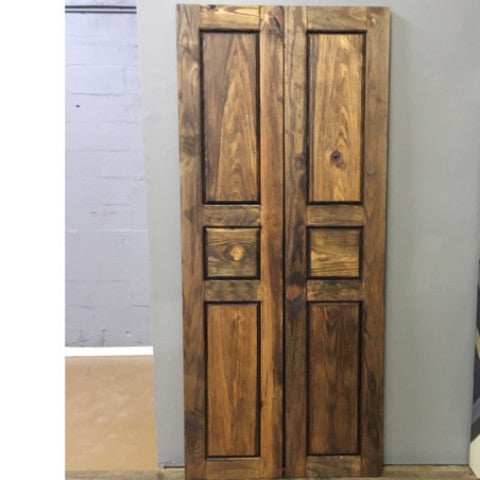 Raised Panel Bi-Parting Doors
