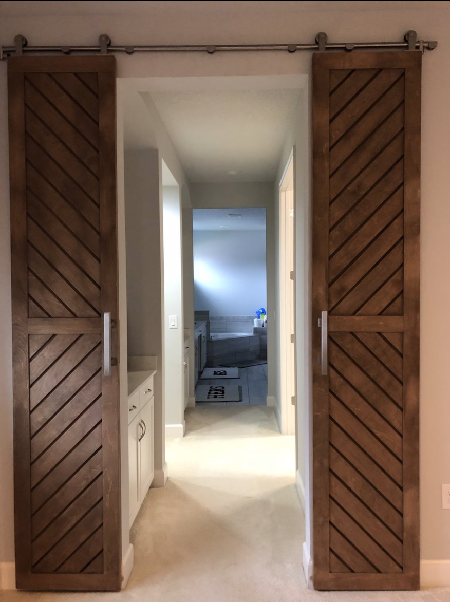 Chevron 2-Panel Door