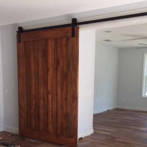 Board & Batten Design Sliding Wood Barn Door