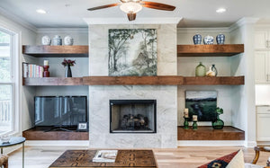 Wood Shelving & Mantels