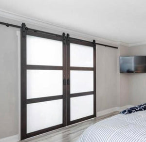3-Panel Glass Door