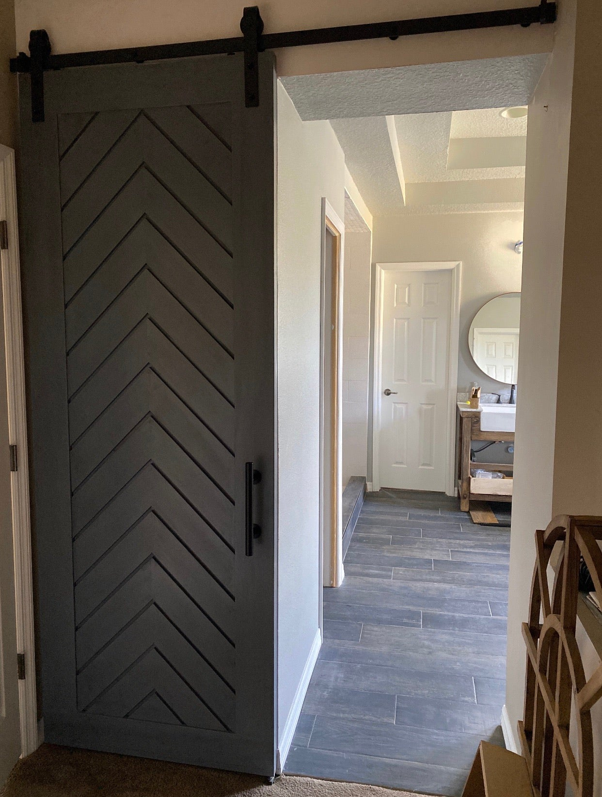 Chevron Full Panel Door