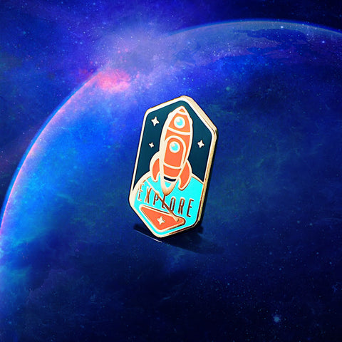 Space Explorers Enamel Pin (Pre Order)