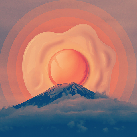 Fuji Over Easy - Art Print