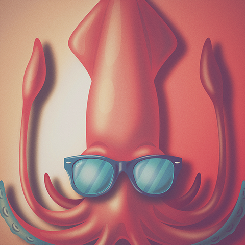 The Chill Squid - Art Print