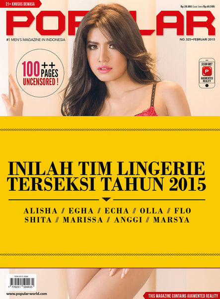 Majalah POPULAR Indonesia | Romantic Lingerie Special Edition | February 2015