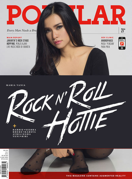 Majalah POPULAR Indonesia | Rock n' Roll Hottie | July 2015 Edition
