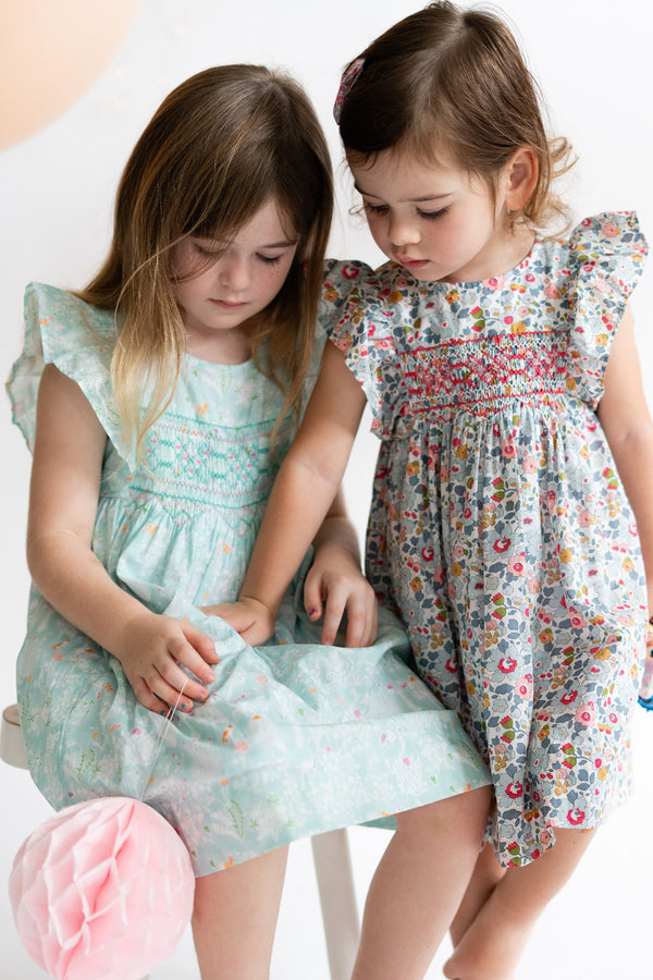 Leonor Betsy Pearl Heirloom Smocked Dress