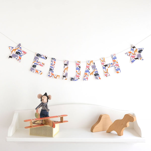 Personalised Name Liberty Garland