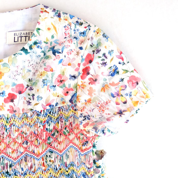 Alexandra Olivia Rainbow Heirloom Smocked Dress - PREORDER