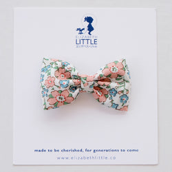 Charlotte Peach Miki Bow Hairclip - Limited Edition