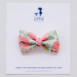 Betsy Coral Miki Bow Hairclip - Limited Edition