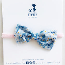 Sakura Blue Yuki Bow Head Band