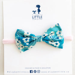 Sakura Teal Yuki Bow Head Band