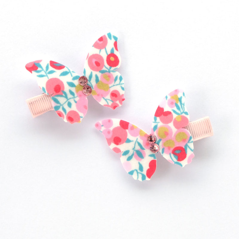 Berry Rose Papillon Hairclip