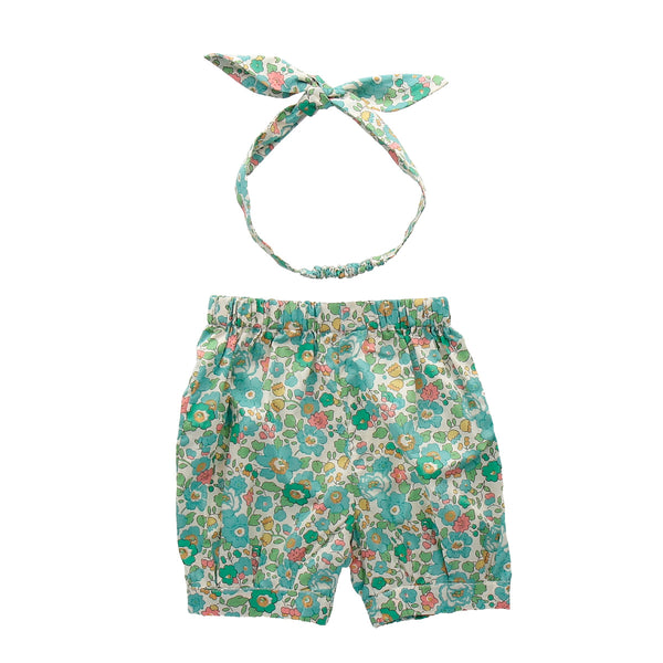Betsy Emerald Bow Bloomers