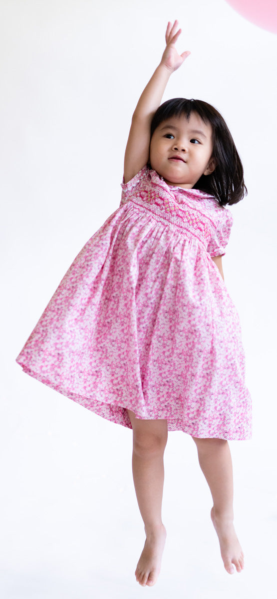 Charlotte Sakura Heirloom Smocked Dress