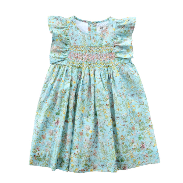 Leonor Mint Eden Heirloom Smocked Dress