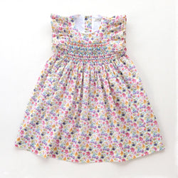 Leonor Pansy Heirloom Smocked Dress