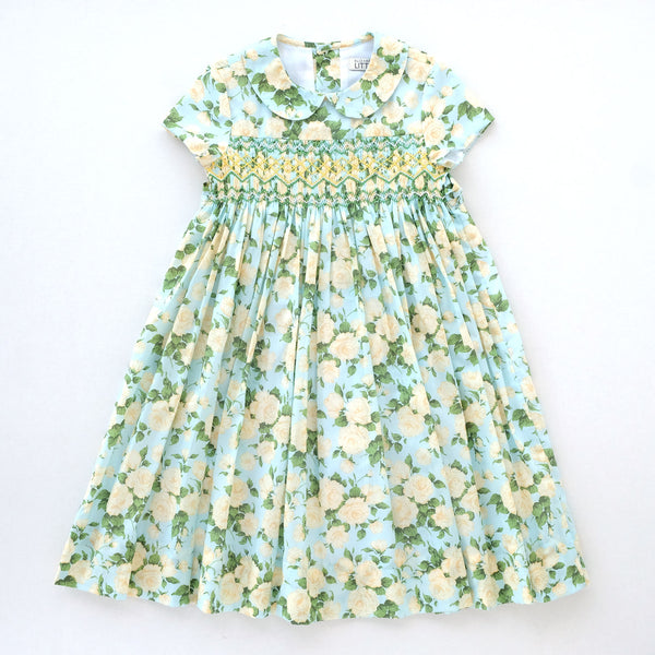 Louisa Rachel Mint Heirloom Smocked Dress