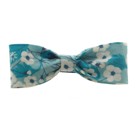 Sakura Teal Miki Bow Hairclip