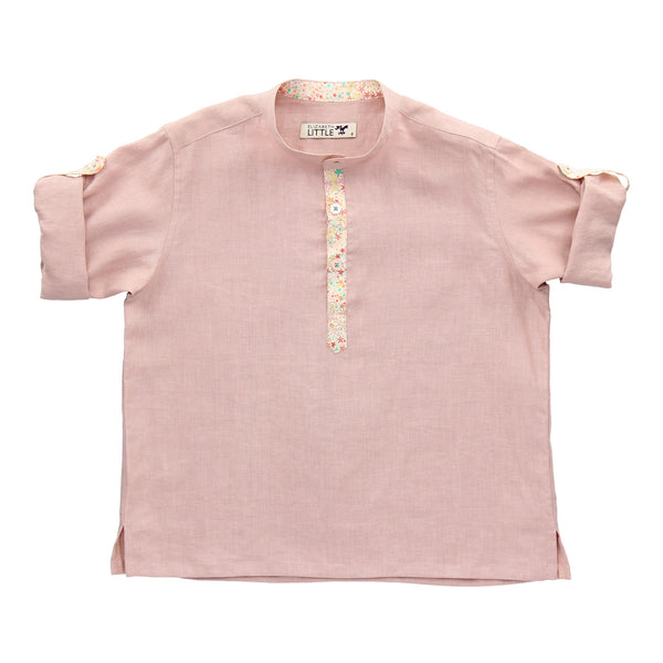 Nico Blush Constellation Linen Shirt