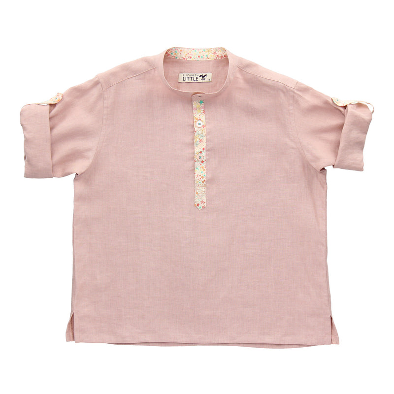 Custom Listing - Siau Yin Yoshi Blush Constellation Linen Shirt - Short Sleeves