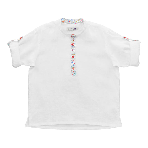 Nico Milk Knights Linen Boys Shirt