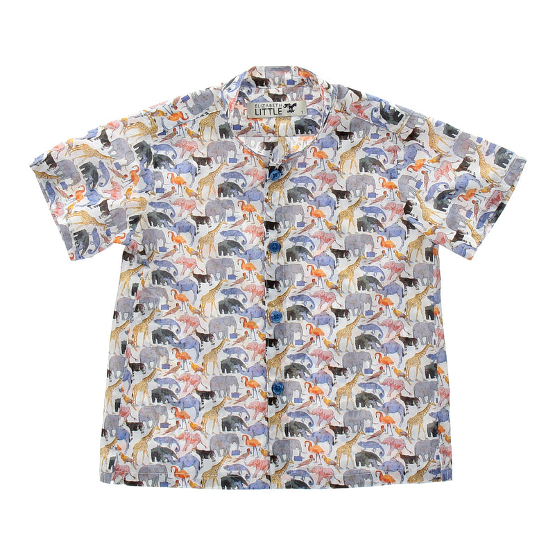 Nobu Safari Mandarin Shirt