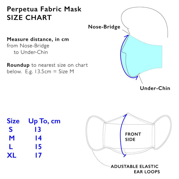 Perpetua Quilting Cotton Face Mask [ Size XL ] - 7-10-20