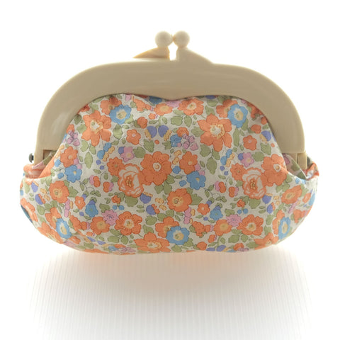 Madeline Betsy Midi Orange Pouch - Medium Ivory Clasp