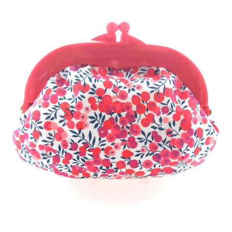 Madeline Berry Pouch - Medium Red Clasp