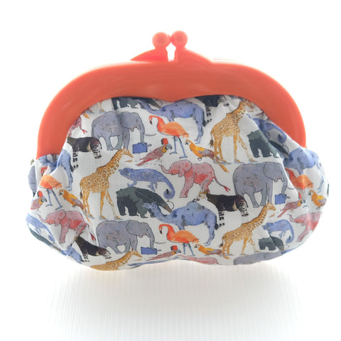 Madeline Safari Pouch - Medium Orange Clasp