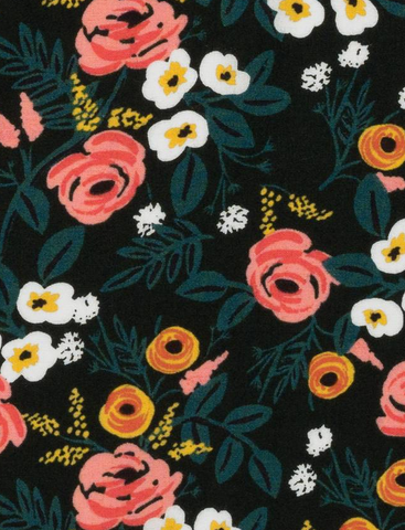 Wonderland Painted Roses Hunter Rayon