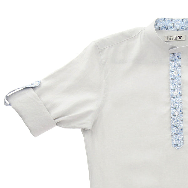 Starr Oyster Sailboat Linen Shirt