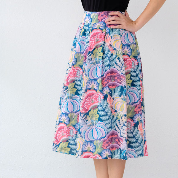 Yumi Skirt - Monstera Plum - One Piece