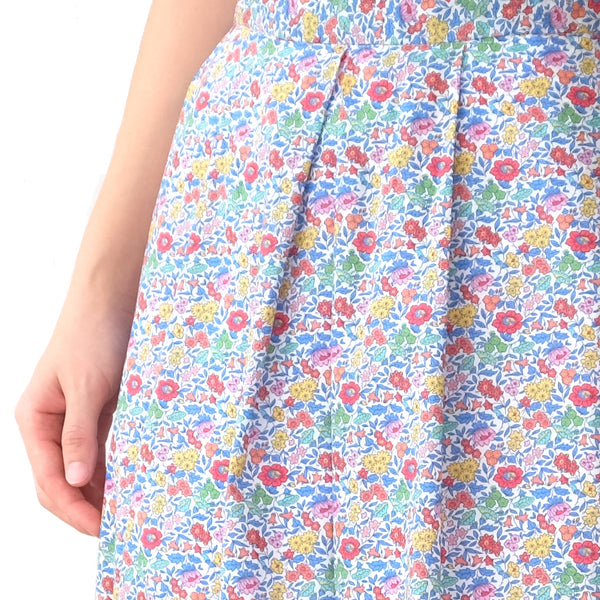 Yumi Blue Blossoms Skirt