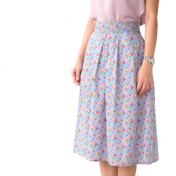 Yumi Blue Blossoms Skirt - PREORDER
