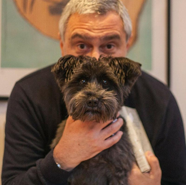 Russ Kane, father of Harper and Ebony (Mini-Schnauzers)