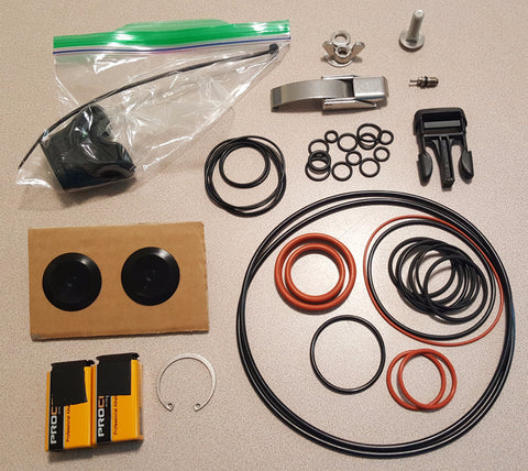 ISC Spare breathing loop O-rings plus additional hard-to-find parts for repairing the Meg 15